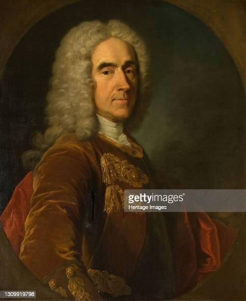 Portrait Of Sir Richard Temple, 4th Viscount of Birmingham, 1738-42. Artist Jean Baptiste van Loo. .
