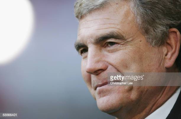 A portrait of Sir Trevor Brooking prior to the International Friendly match between Denmark and England at the Parken Stadium on August 17 2005 in...