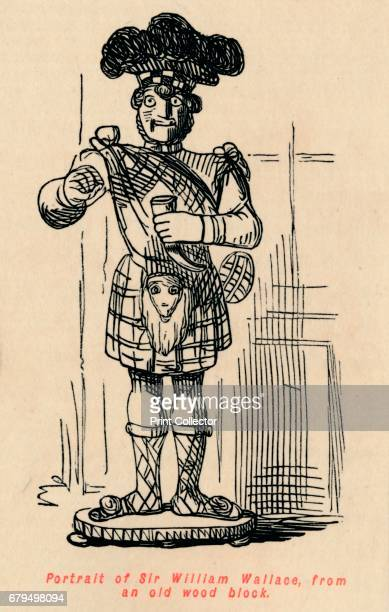 Portrait of Sir William Wallace from an old wood block' c1860 Sir William Wallace a Scottish knight who became one of the leaders during the Wars of...