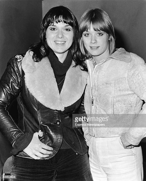 Portrait of sisters Ann and Nancy Wilson of the rock group Heart on tour in Europe 1976