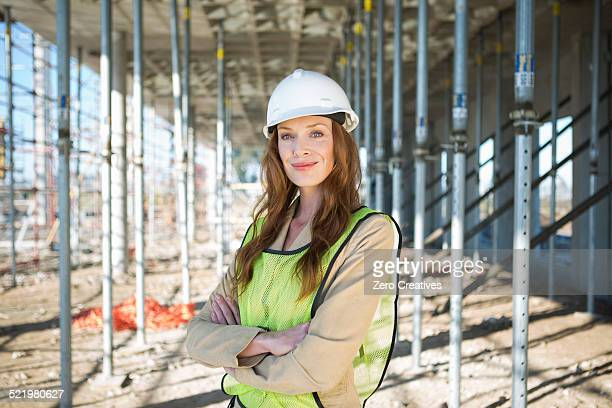 Portrait of site manager on construction site
