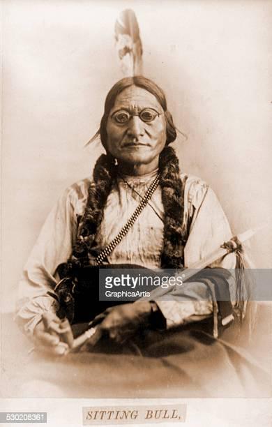 Portrait of Sitting Bull with a calumet by Orlando Scott Goff 1885