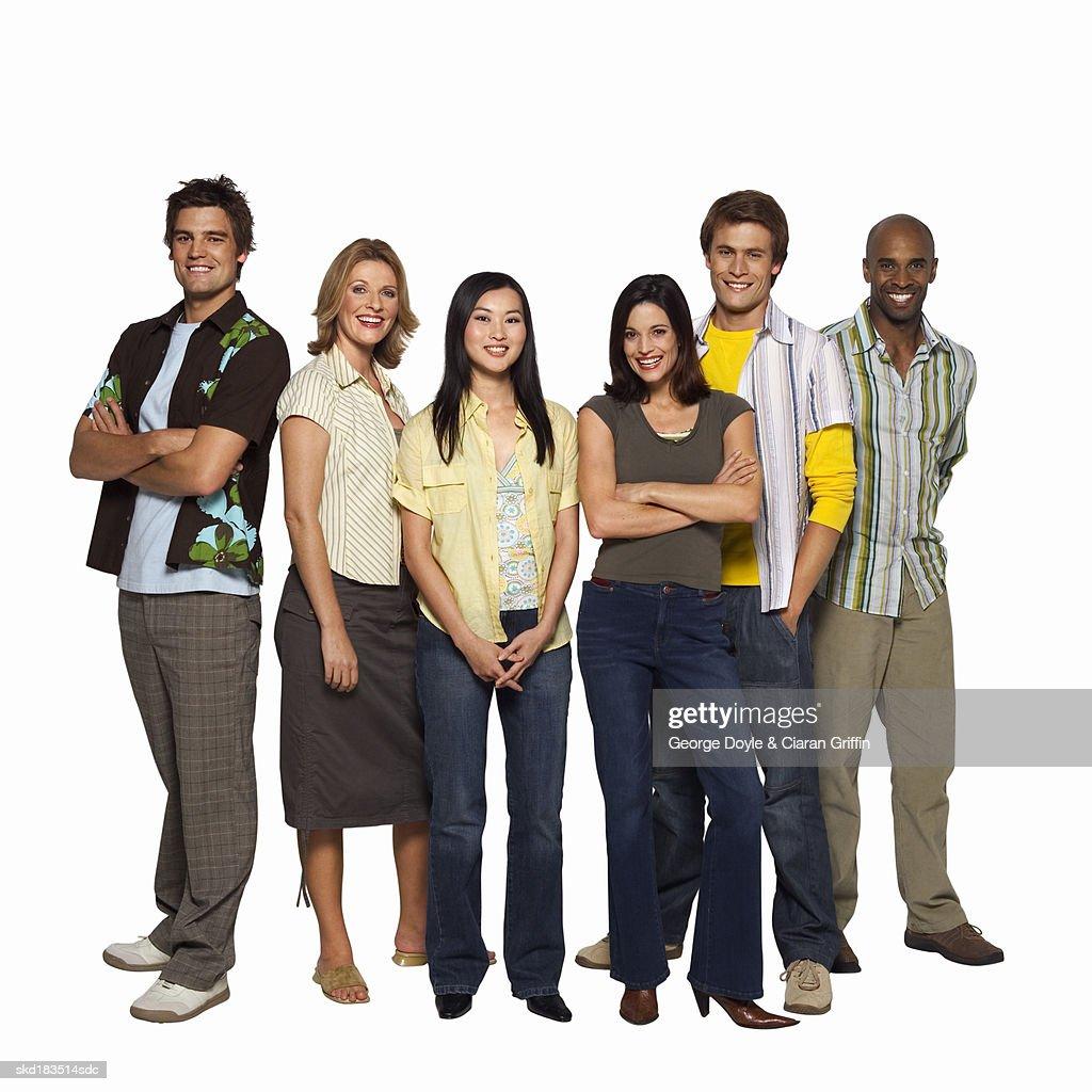 Portrait of six friends : Stock Photo