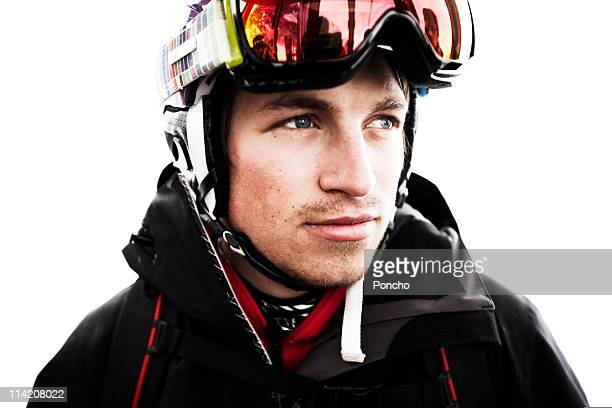 Portrait of Skier with Helmet