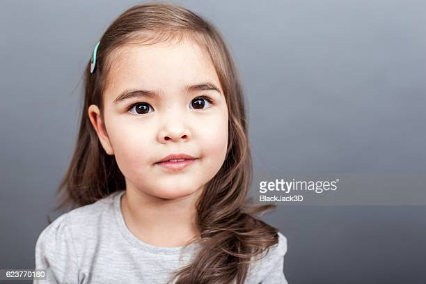 Portrait Of Small Cute Girl