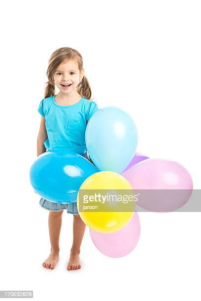 portrait de petite fille avec baloons