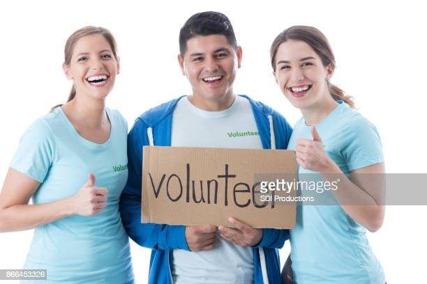 Portrait of small group of volunteers