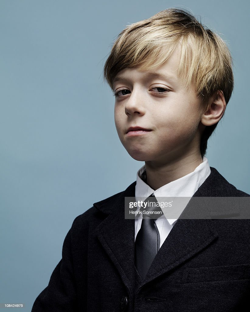 Portrait of smartly dressed young boy : Stock Photo