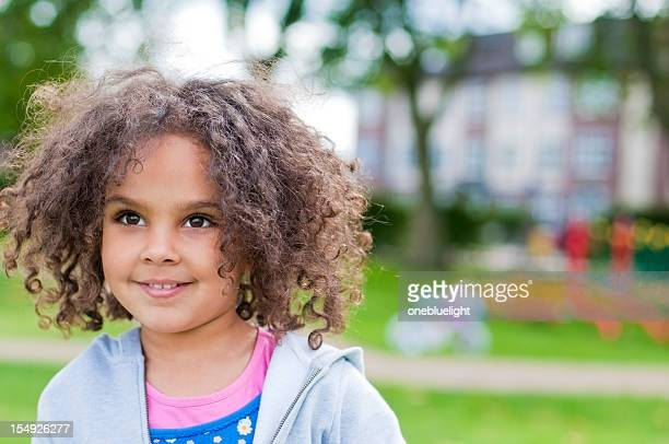 portrait of smiling 4 years old little girl, outdoor - 4 5 years stock pictures, royalty-free photos & images
