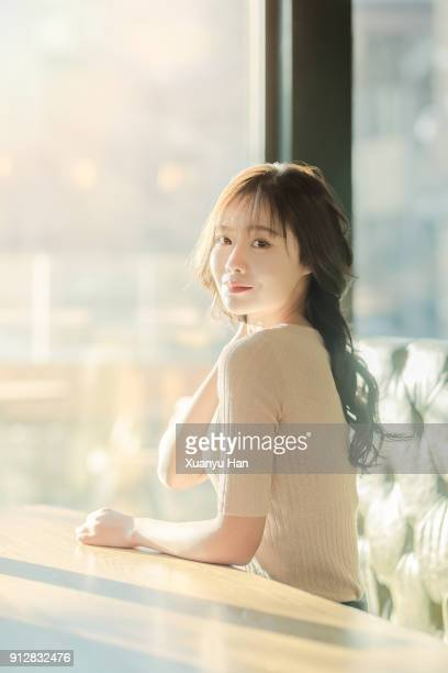 Portrait of smiling beautiful woman