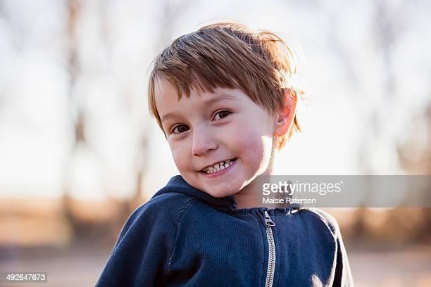 Portrait of smiling boy (4-5) Colorado, USA