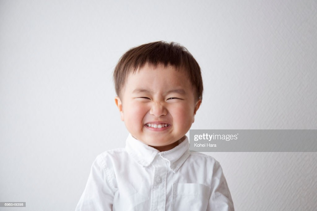 Portrait of smiling boy : Stock Photo