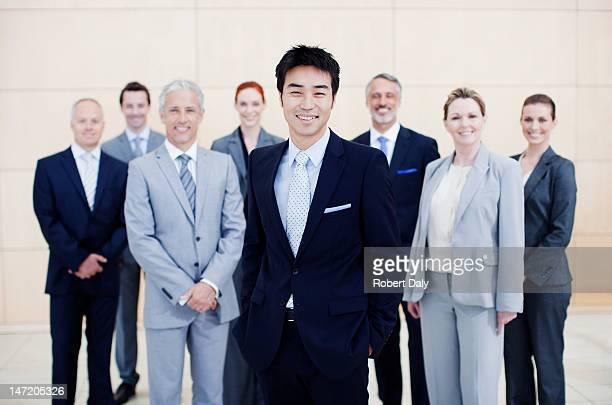 笑顔のビジネスの人々のポートレート