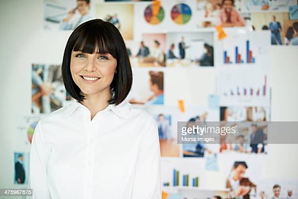 portrait of smiling business woman - shirt stock pictures, royalty-free photos & images