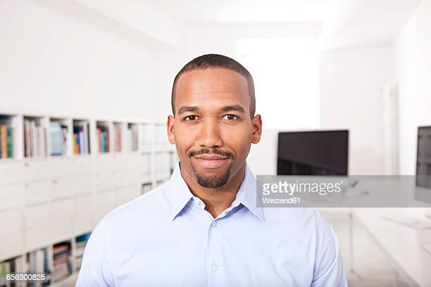 Portrait of smiling businessman in the office