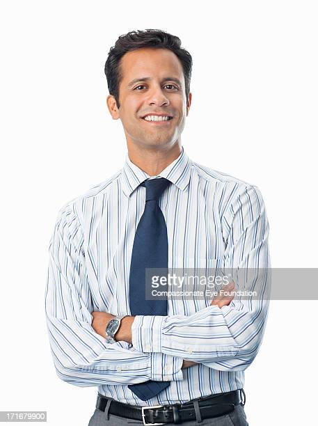 portrait of smiling businessman - shirt and tie stock pictures, royalty-free photos & images