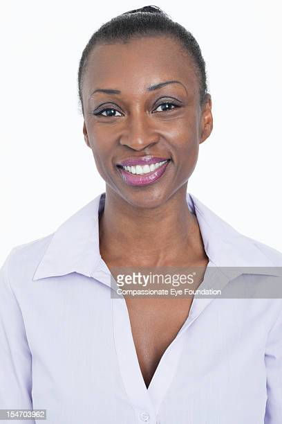 Portrait of smiling businesswoman, close up