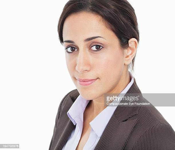 portrait of smiling businesswoman, close up - compassionate eye foundation stock pictures, royalty-free photos & images