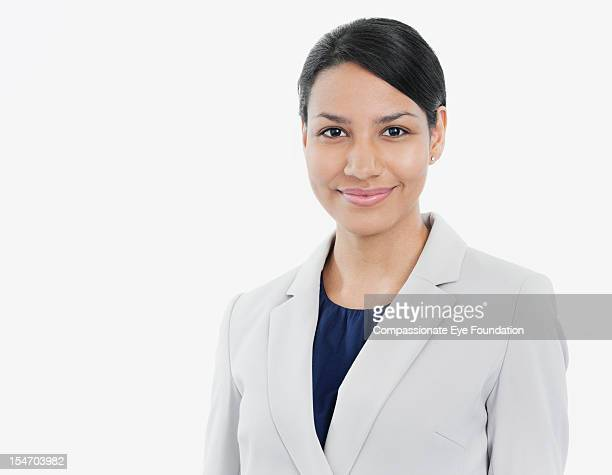 portrait of smiling businesswoman - compassionate eye foundation stock pictures, royalty-free photos & images