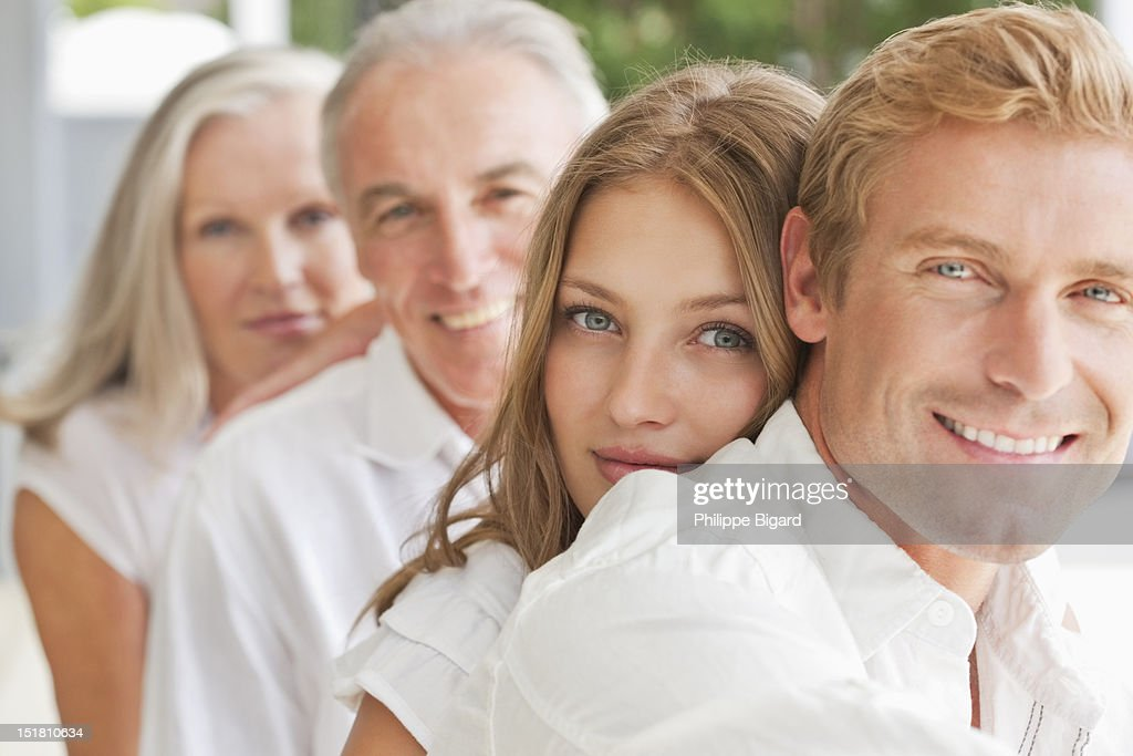 Portrait of smiling family : Stock Photo