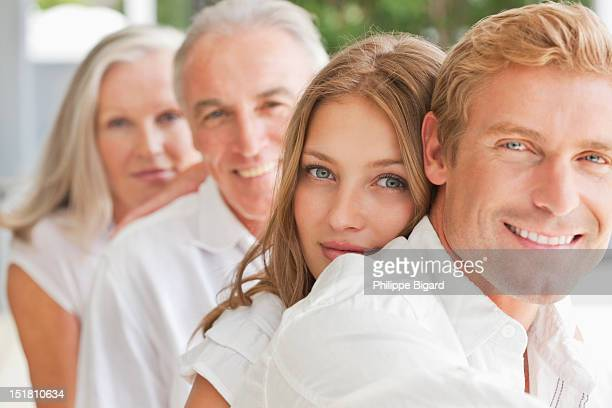 Portrait of smiling family