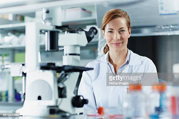Portrait of smiling female scientist
