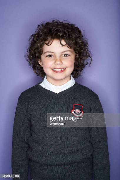 Portrait of smiling girl with ringlets