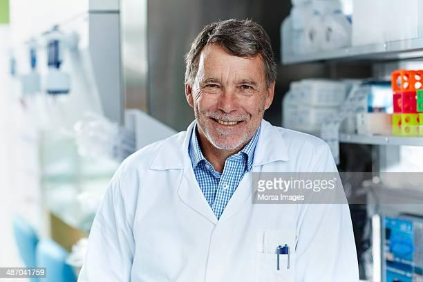 Portrait of smiling male scientist