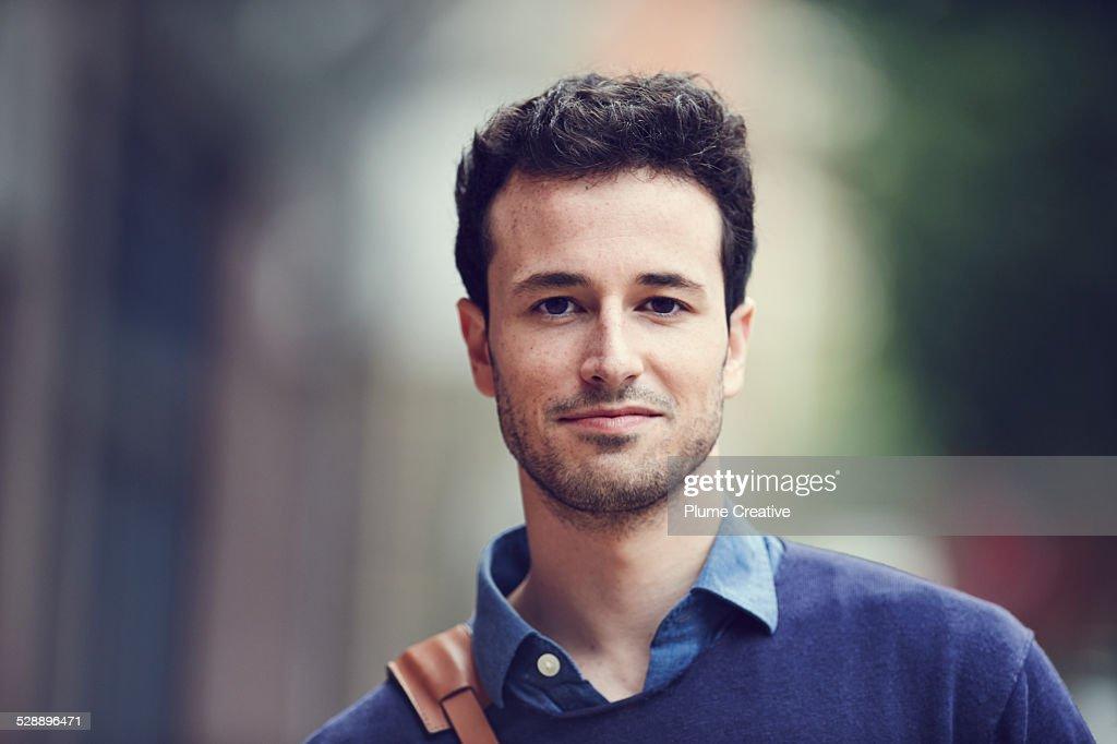 Portrait of smiling man : Stock-Foto