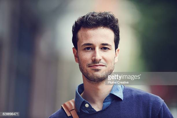 portrait of smiling man - hair stubble stock pictures, royalty-free photos & images