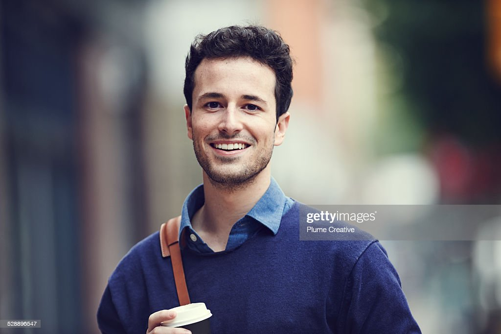 Portrait of smiling man : Stock Photo