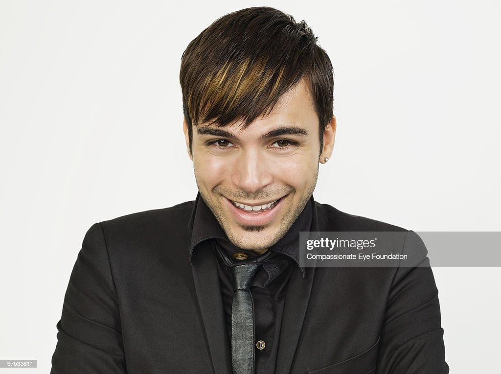 Portrait of smiling man : Foto stock