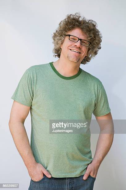 Portrait of smiling man with eyeglasses