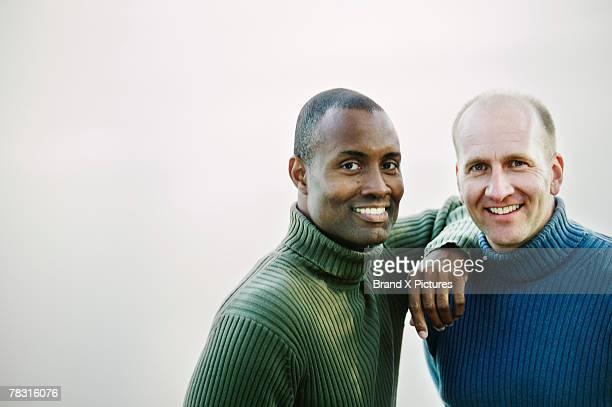 Portrait of smiling men
