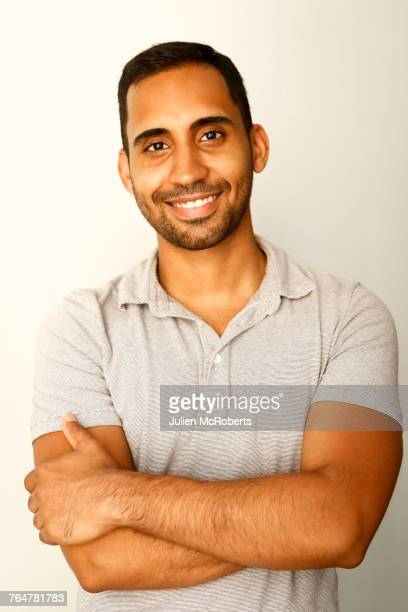 portrait of smiling mixed race man - indian subcontinent ethnicity stock pictures, royalty-free photos & images