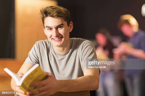 Portrait of smiling Mixed Race teenage boy