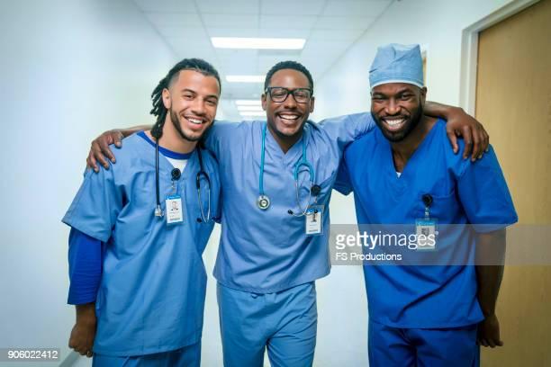Portrait of smiling nurses