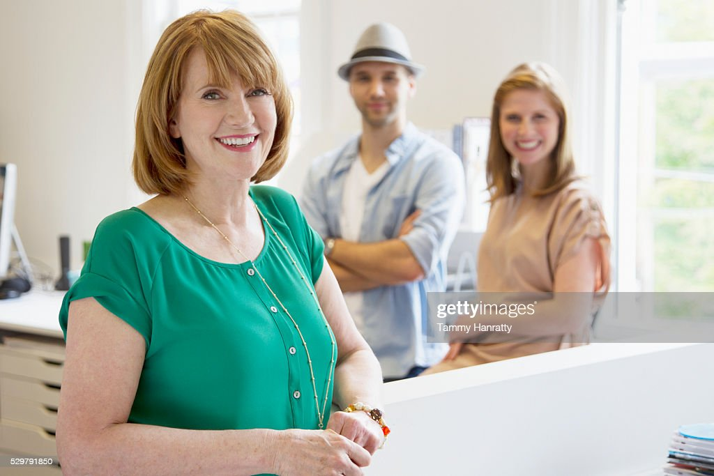 Portrait of smiling office workers : Foto stock