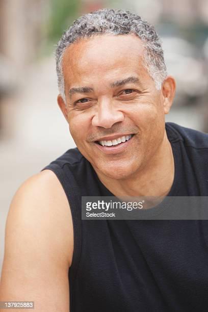 Portrait of smiling older man