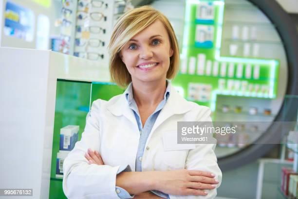 Portrait of smiling pharmacist