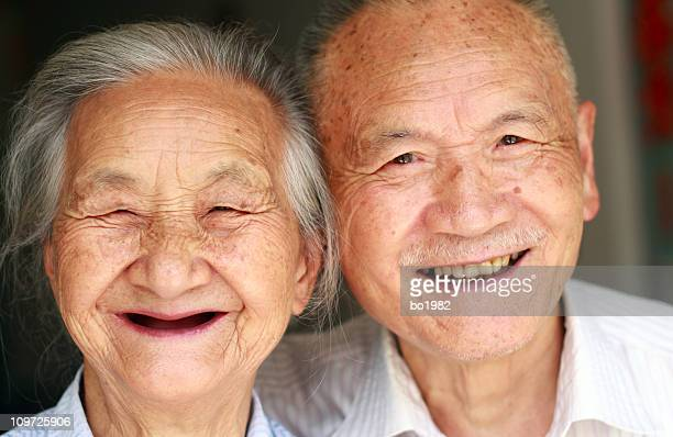 Portrait of Smiling Senior Asian Couple