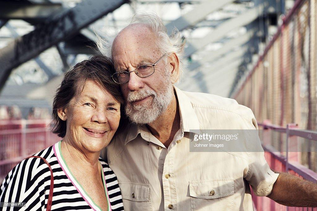 Portrait of smiling senior couple : Stock Photo