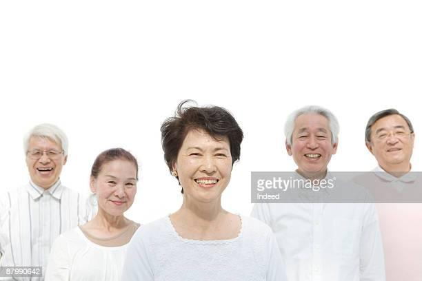 portrait of smiling senior men and women - 数人 ストックフォトと画像