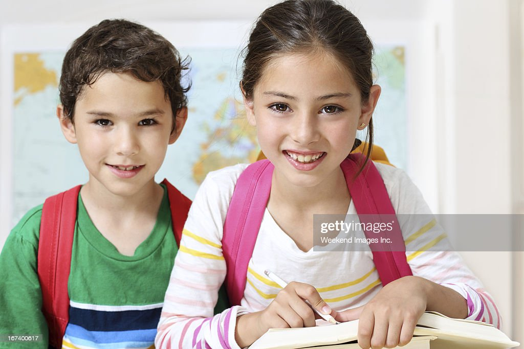 Portrait of smiling students : Stock Photo