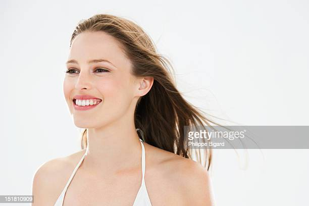 Portrait of smiling woman
