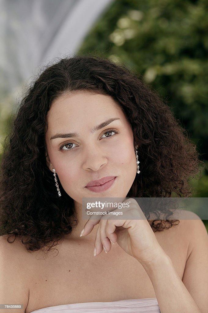 Portrait of smiling woman : Stockfoto
