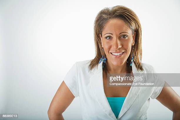 """portrait of smiling woman - """"compassionate eye"""" stock pictures, royalty-free photos & images"""