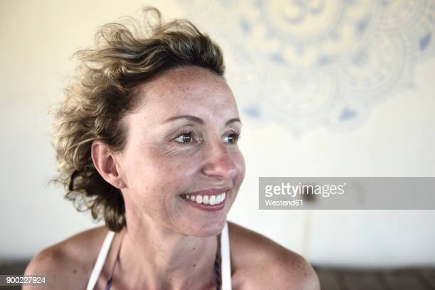 portrait of smiling woman - candid stock pictures, royalty-free photos & images
