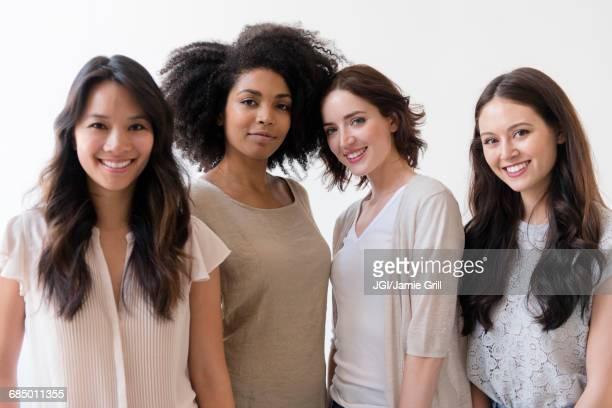 Portrait of smiling women