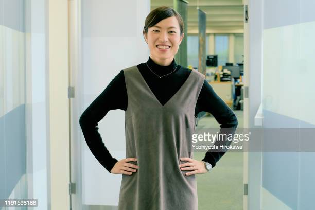 portrait of smiling working business woman - business ストックフォトと画像
